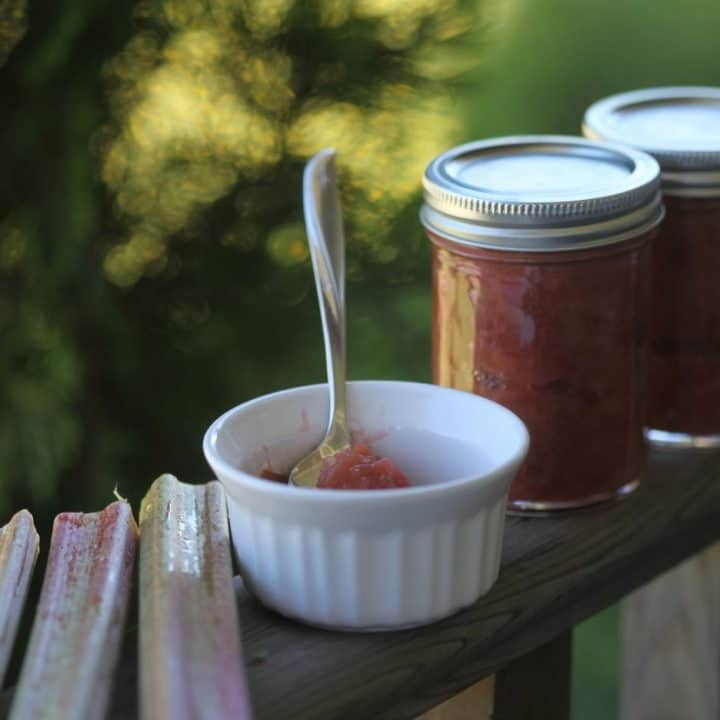 How To Make Rhubarb Jam -With And Without Pectin