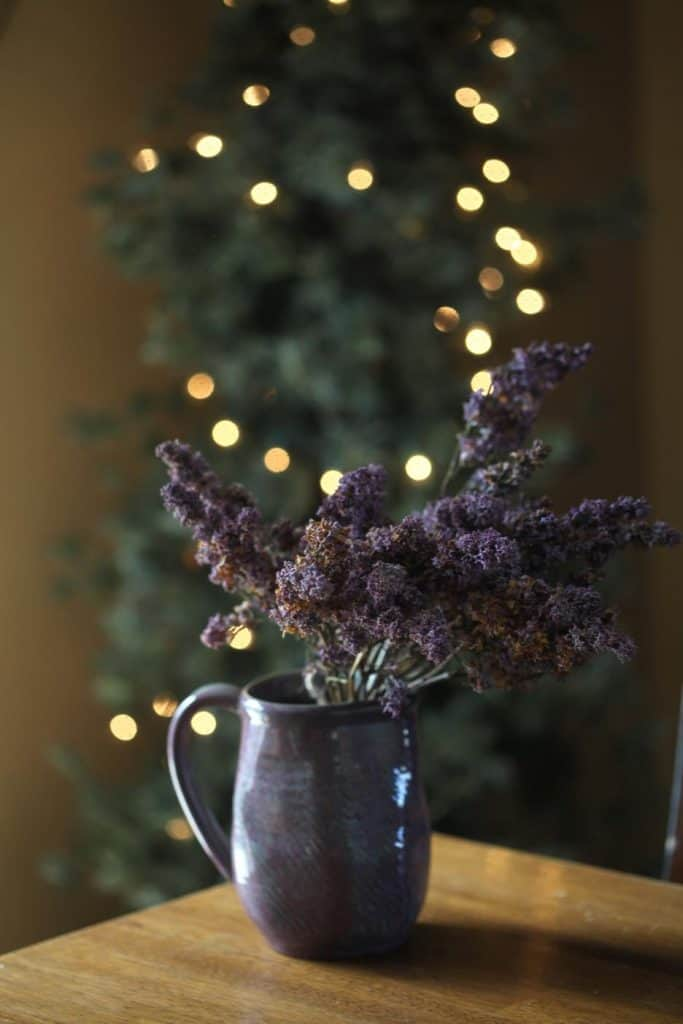 lilacs dried in a vase